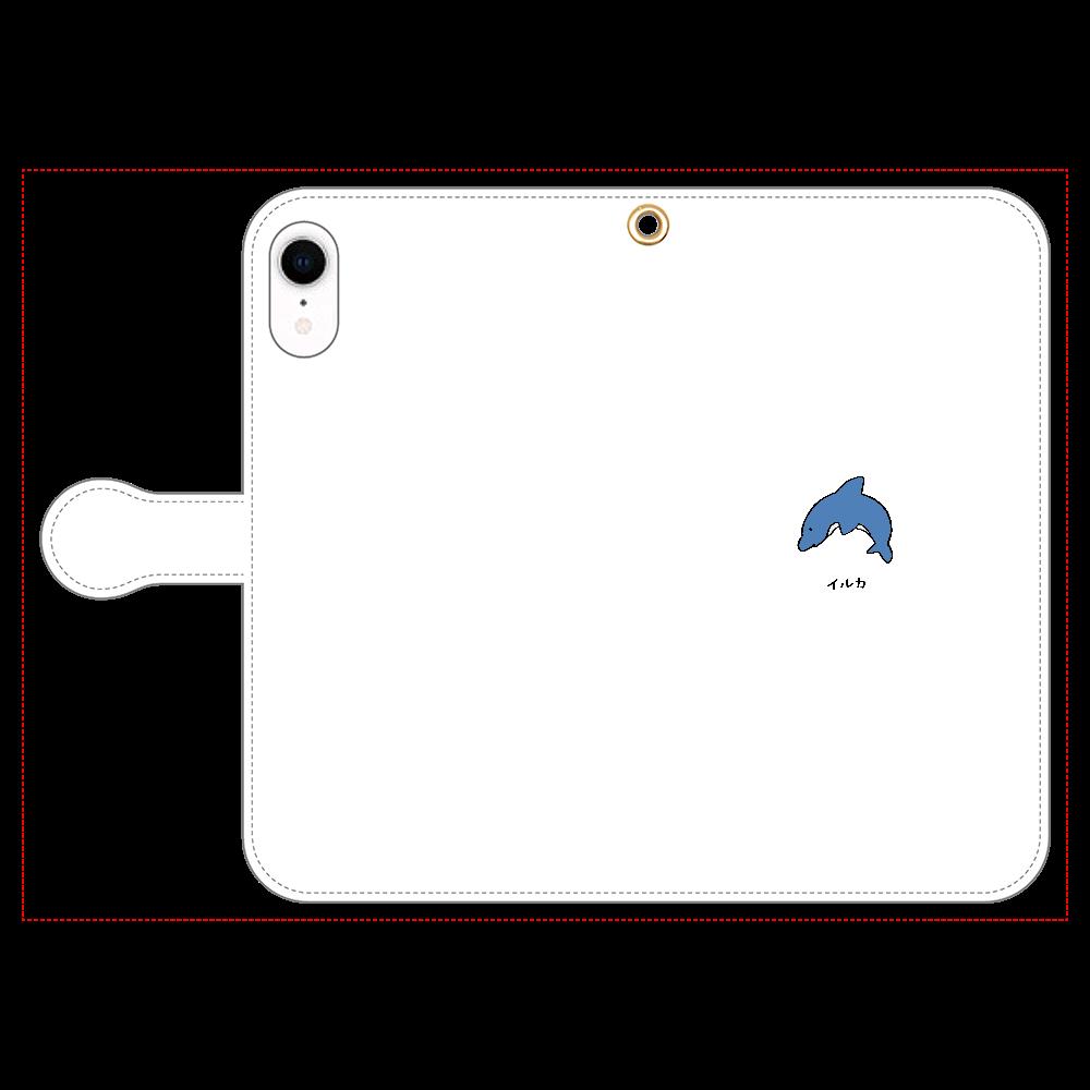 イルカさん 手帳型スマホケース iPhone XR 手帳型スマホケース