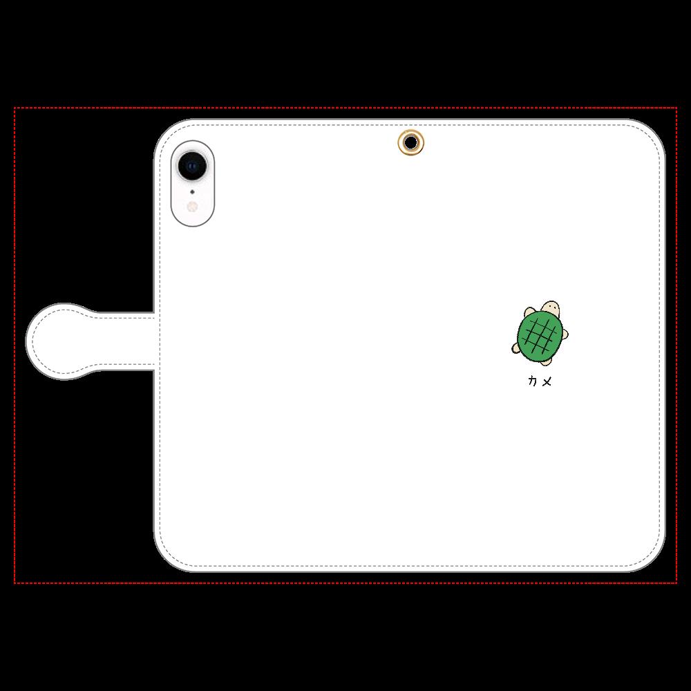 カメさん 手帳型スマホケース iPhone XR 手帳型スマホケース