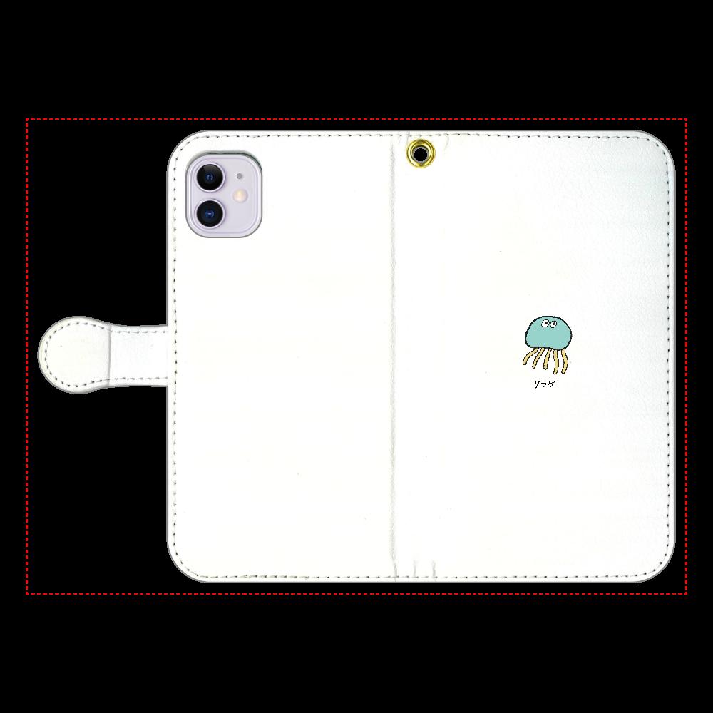 クラゲさん 手帳型スマホケース iPhone11 手帳型スマホケース