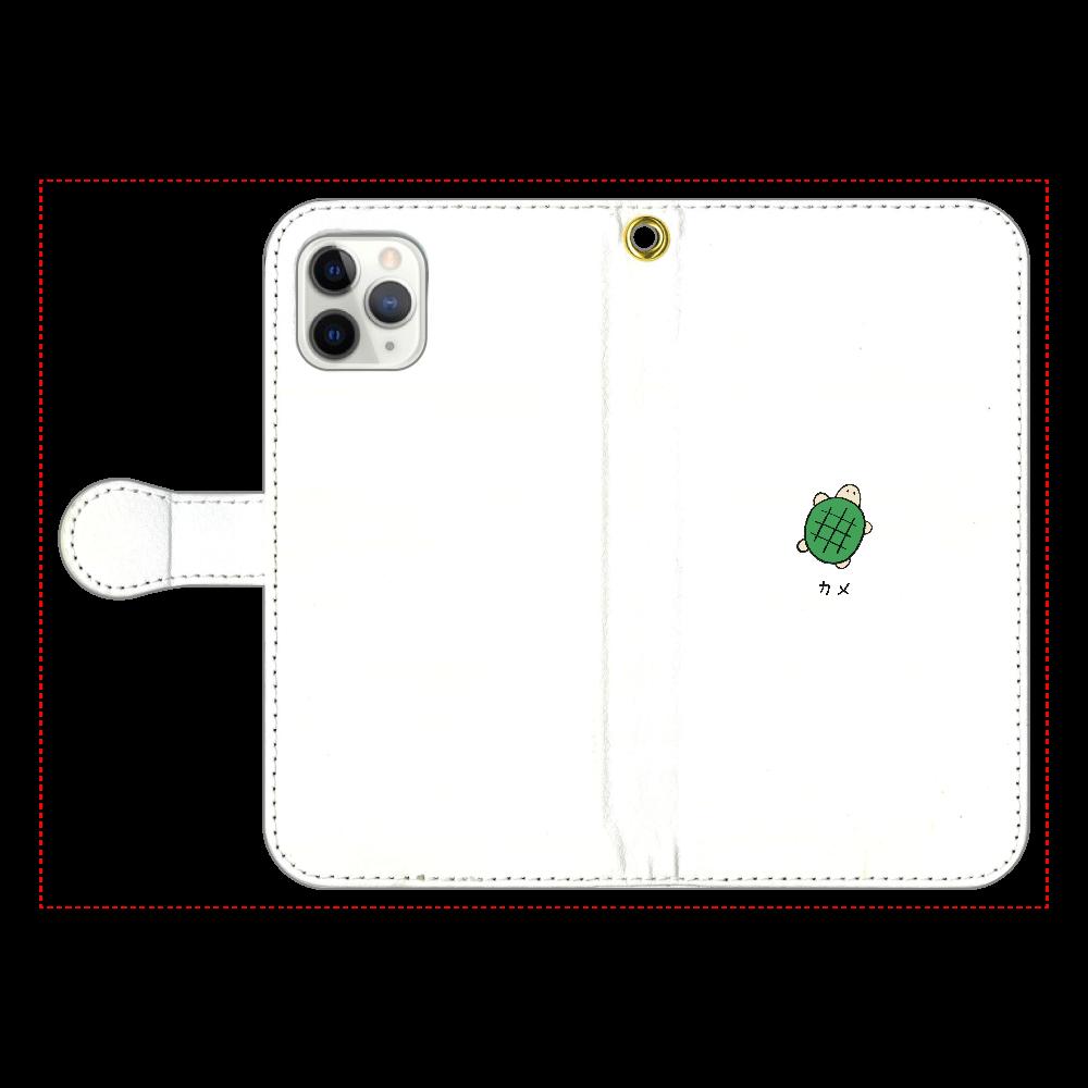 カメさん 手帳型スマホケース iPhone11 Pro 手帳型スマホケース