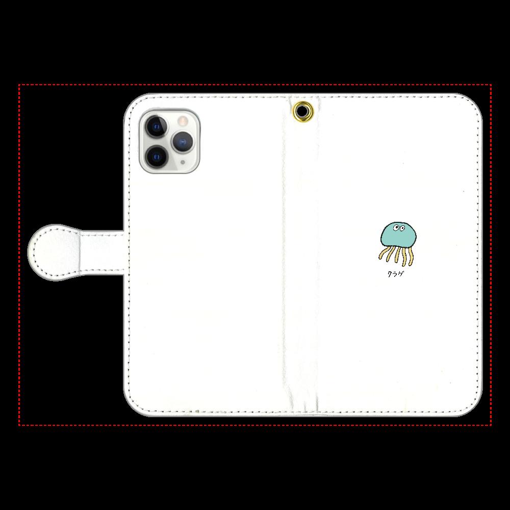 クラゲさん 手帳型スマホケース iPhone11 Pro 手帳型スマホケース