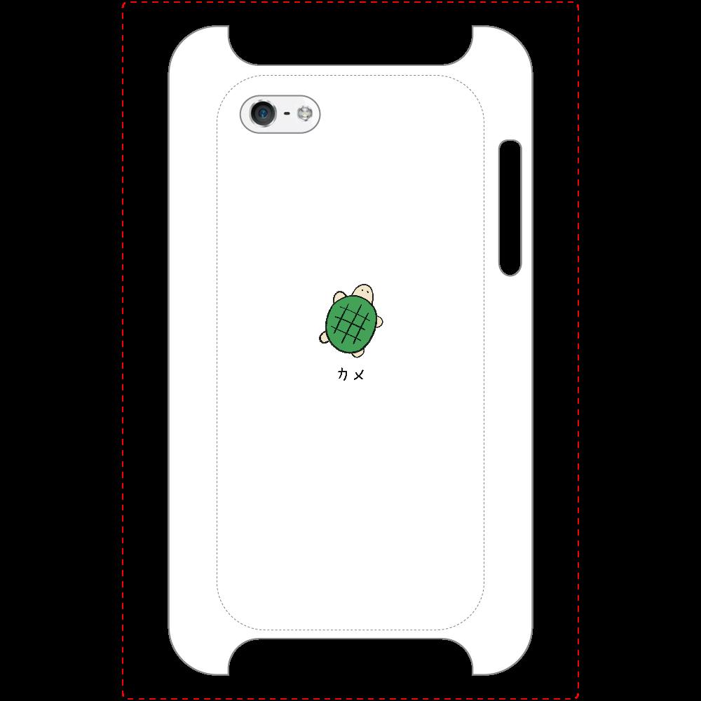 カメさん マットスマホケース iPhone5/5s/SE