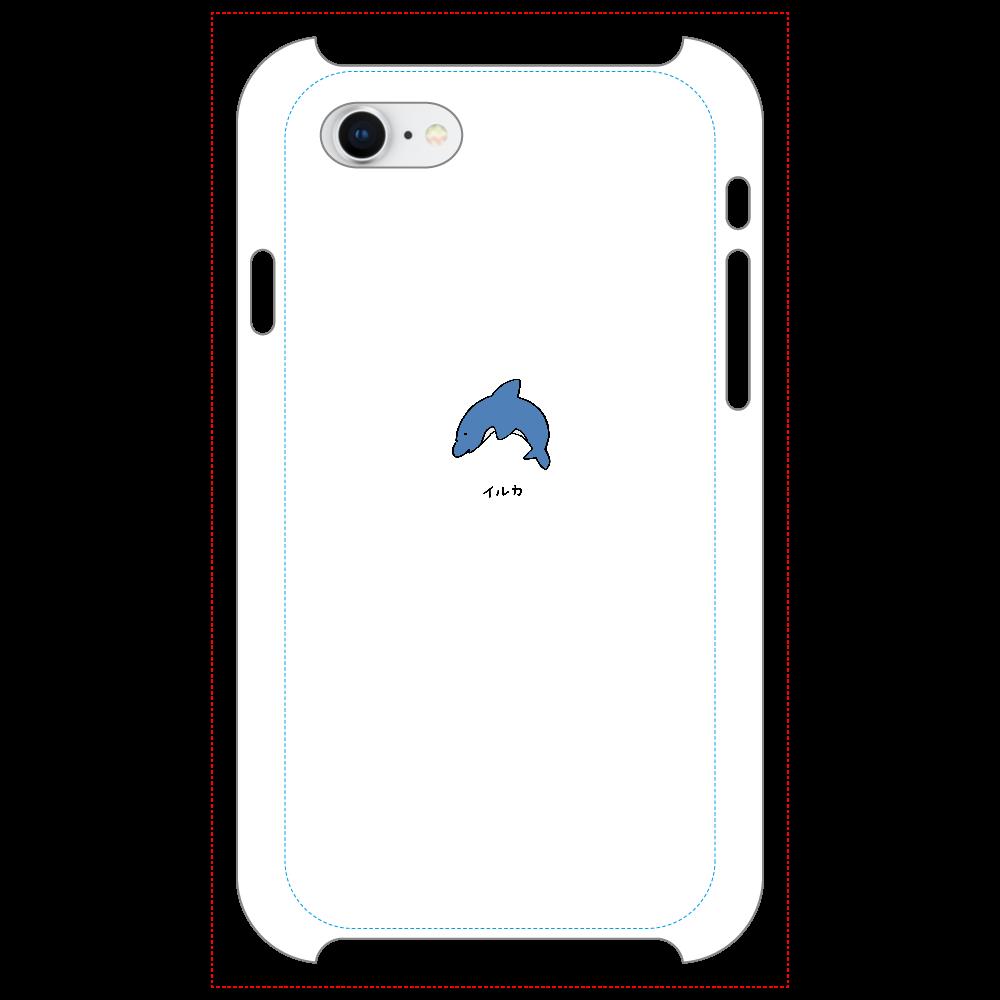 イルカさん マットスマホケース iPhone8