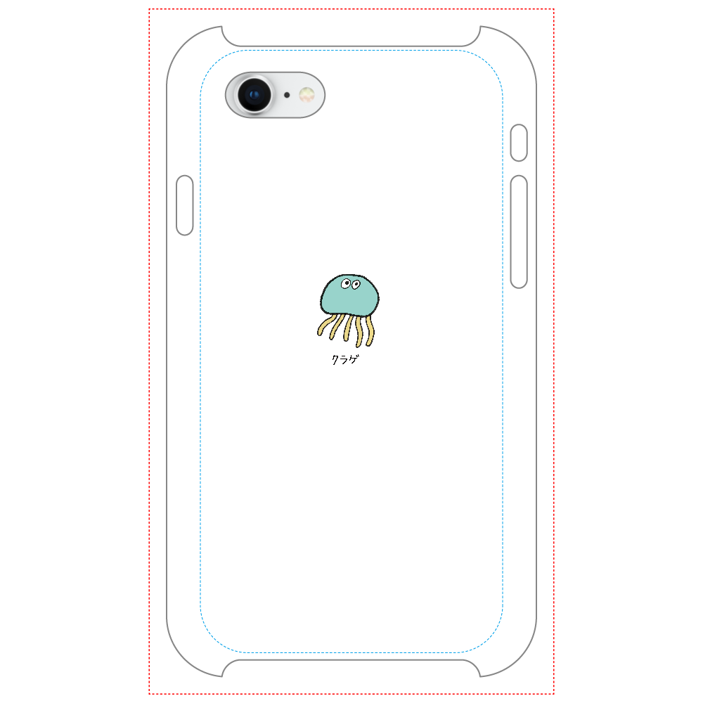 クラゲさん マットスマホケース iPhone8