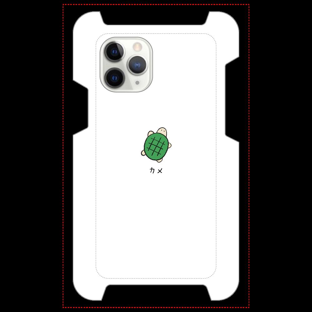 カメさん マットスマホケース iPhone 11 Pro