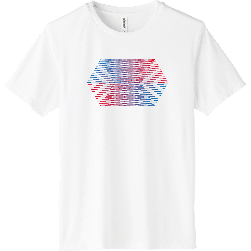 blue_red_001 インターロックドライTシャツ
