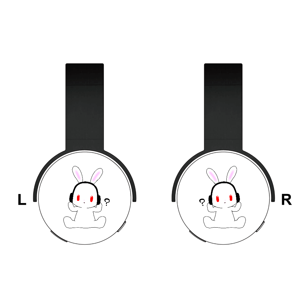 うさぎのヘッドフォン Bluetoothヘッドフォン