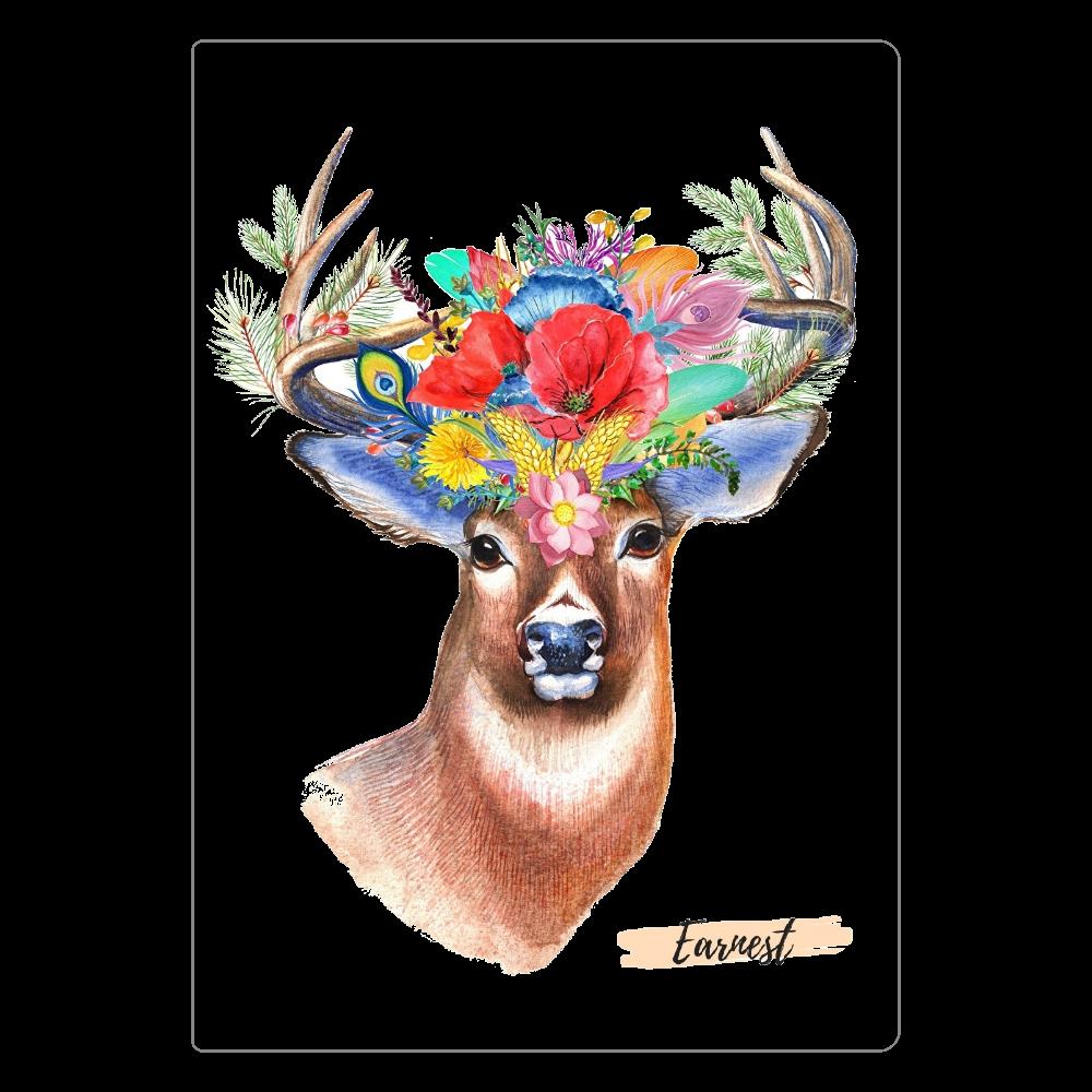 お洒落な鹿シリーズ ソフトレザーノート  ホワイト ソフトレザーノート