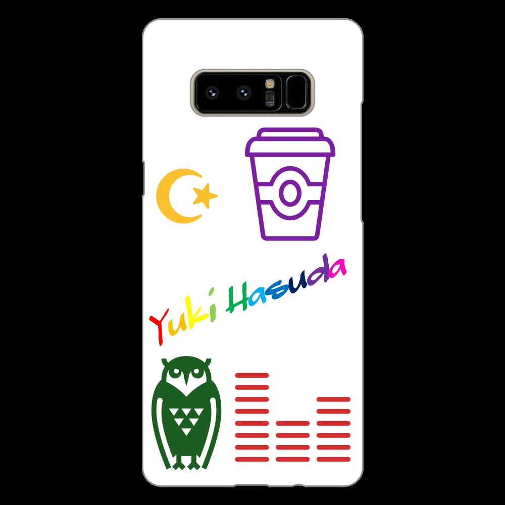 はすだゆーきのすまほけーす(GalaxyNote8用) Galaxy Note8(白)