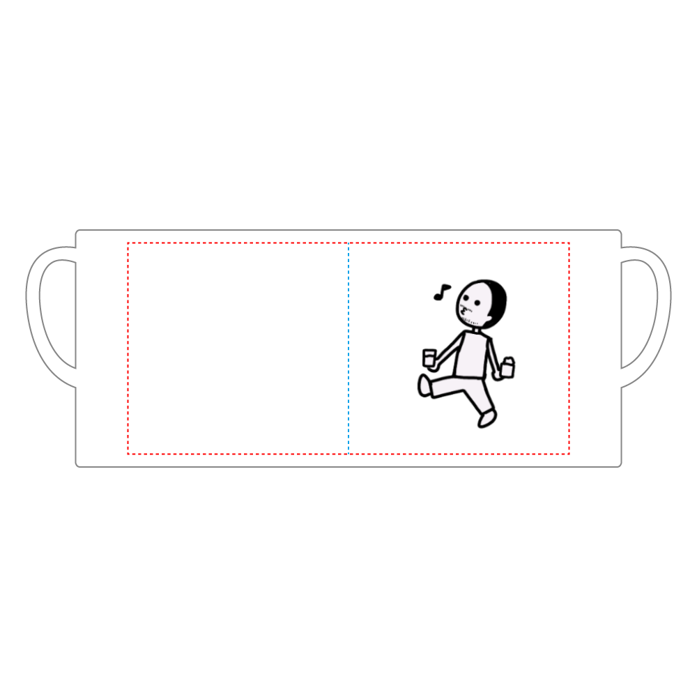 クーポン券おじさん 陶器マグストレート(M)