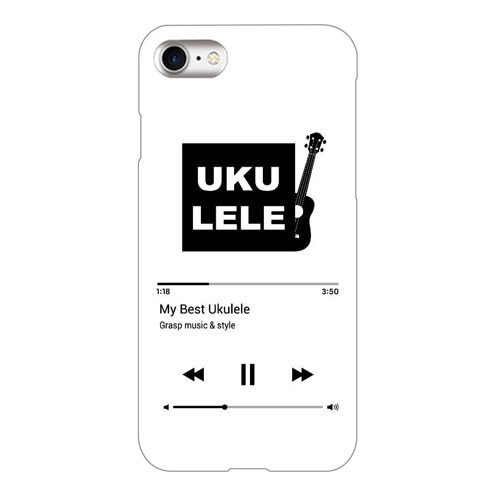 My Best Ukulele Music Player / Black iPhone8(透明)