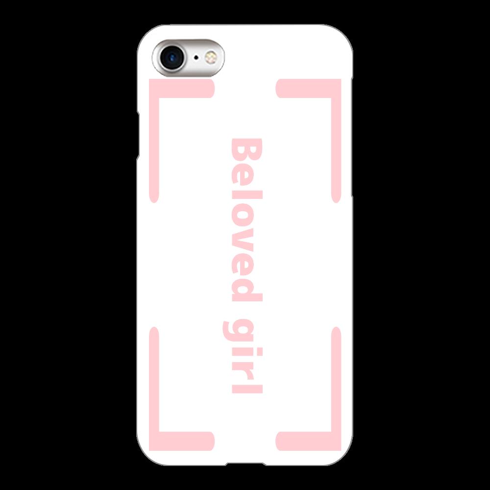 Beloved Girl iphone8(透明)カバー iPhone8(透明)