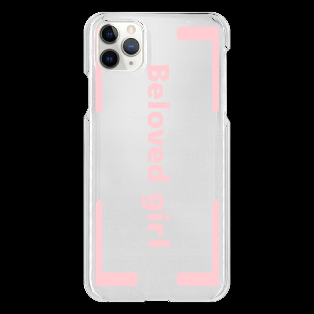 Beloved Girl iphone XI ProMAX(透明)カバー iPhone 11 ProMax(透明)