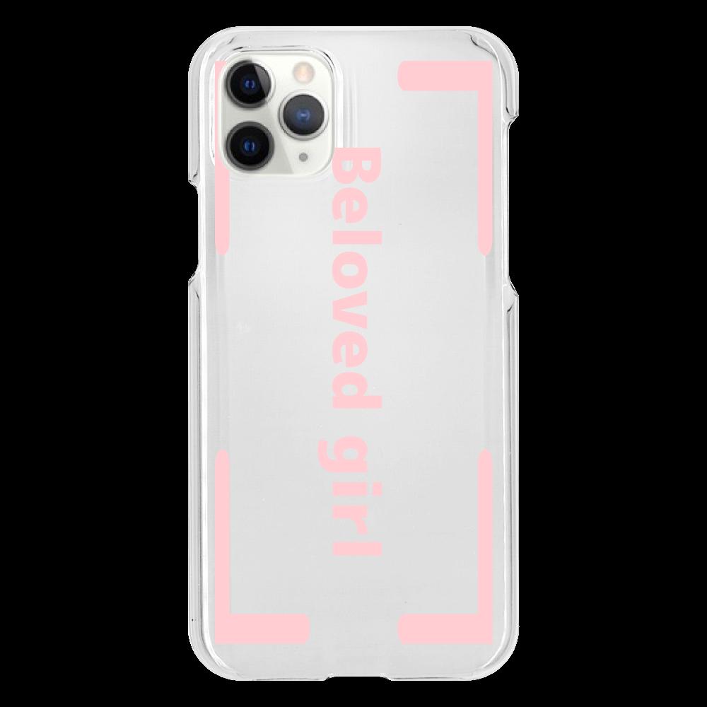 Beloved Girl iphone XI Pro(透明)カバー iPhone11 Pro(透明)
