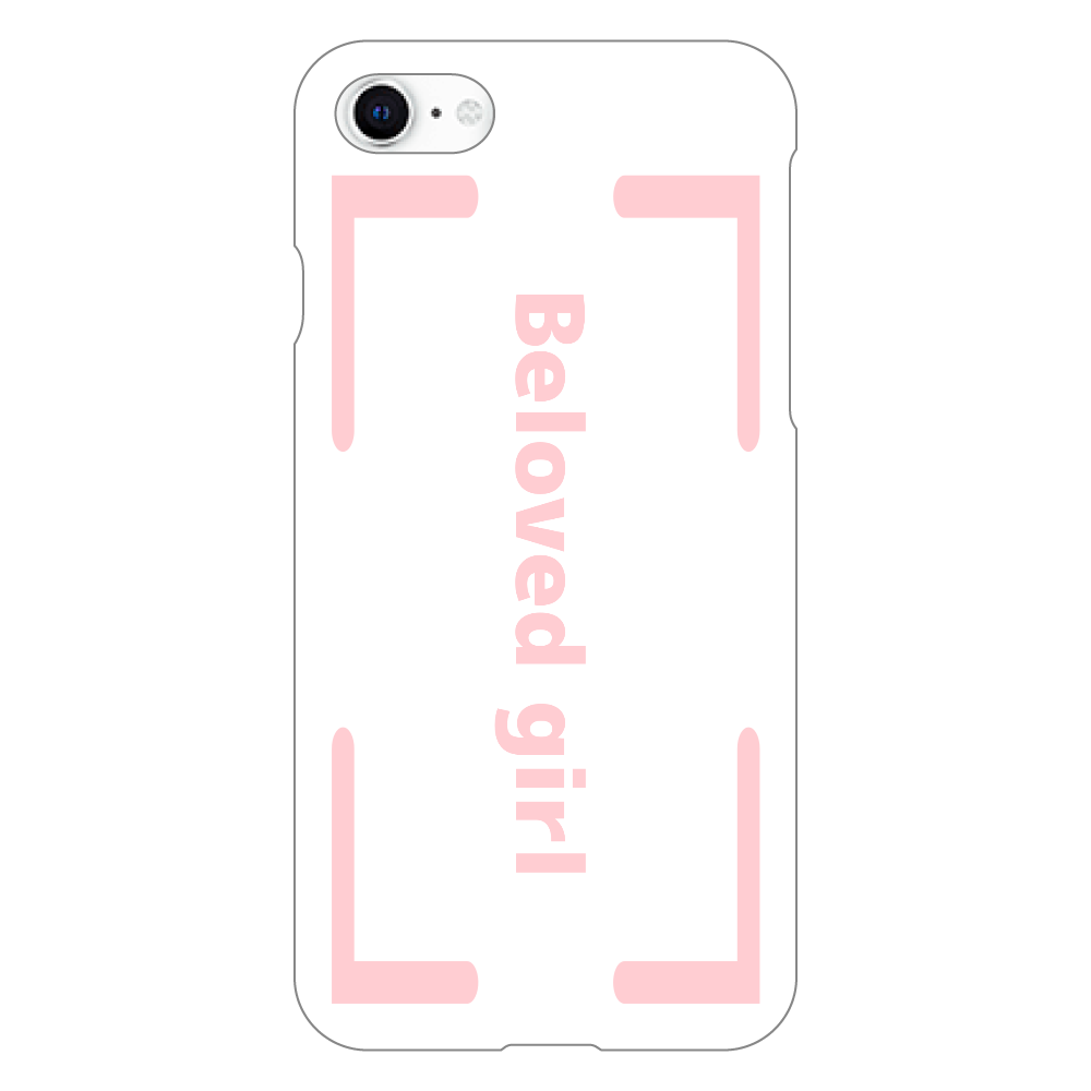 Beloved Girl iphoneSE2(透明)カバー iphoneSE2(透明)