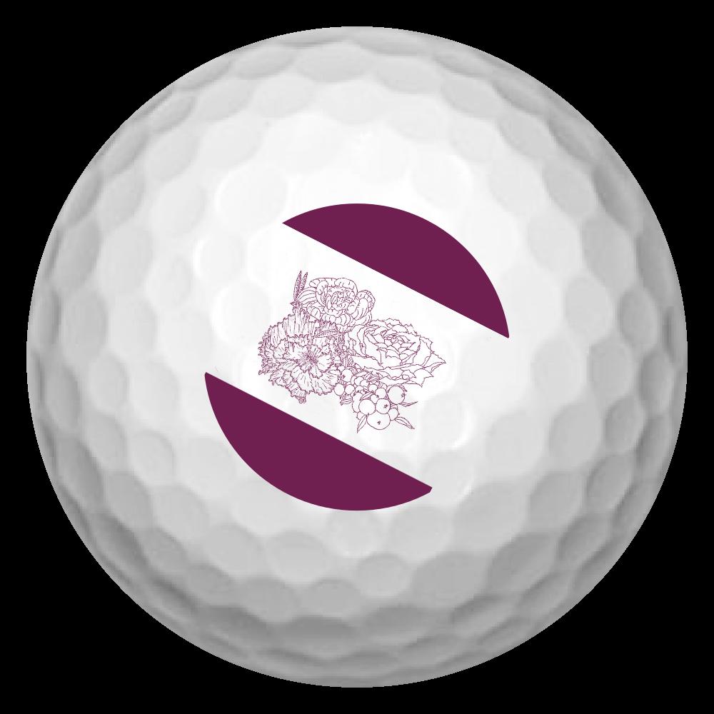 ゴルフボール 花 ゴルフボール(3個セット)