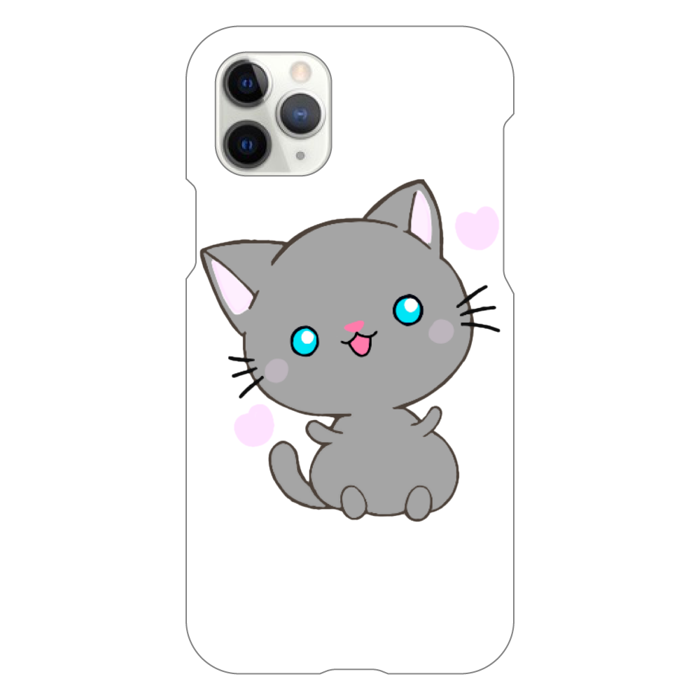猫 iPhoneケース iPhone11 Pro(白)