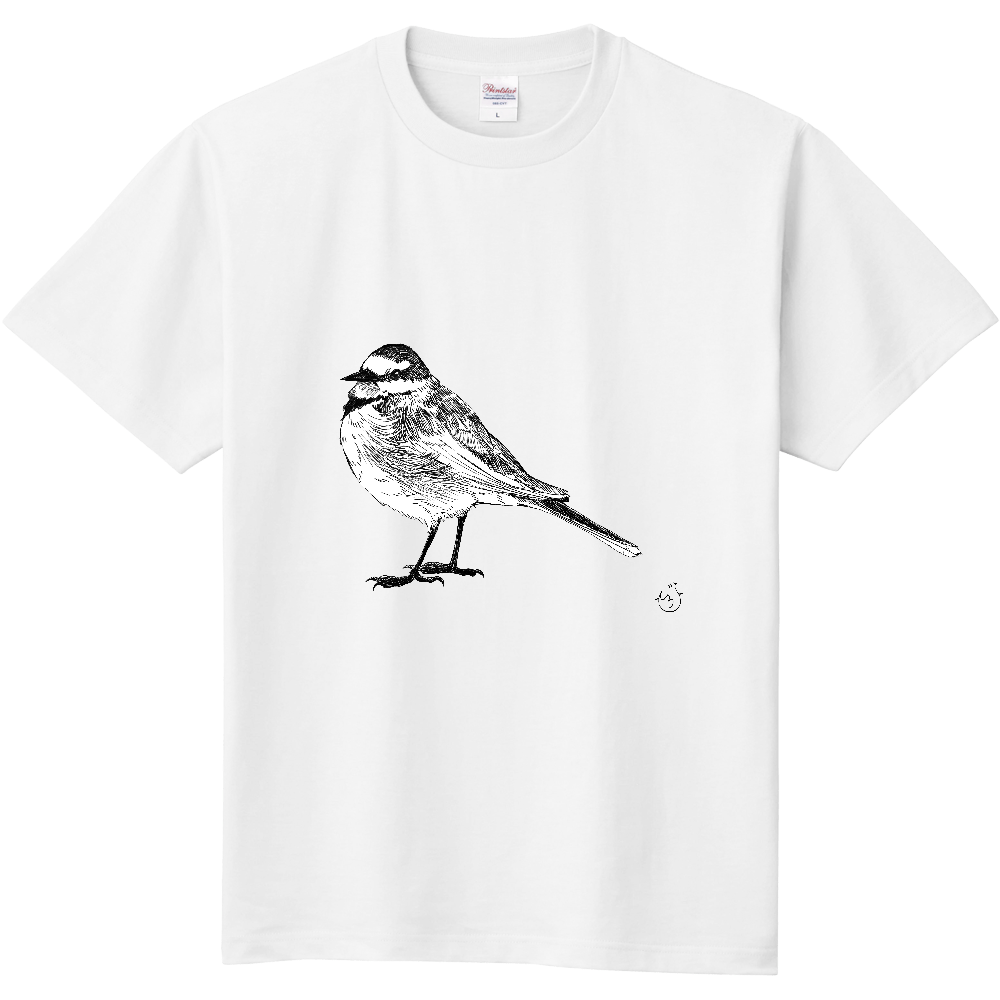 ハクセキレイ(Tシャツ) 定番Tシャツ