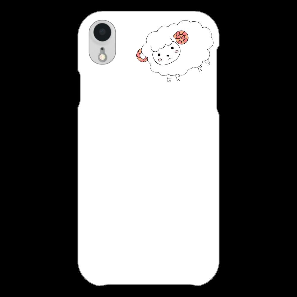 ぴえん風iPhoneケース iPhoneXR(透明)