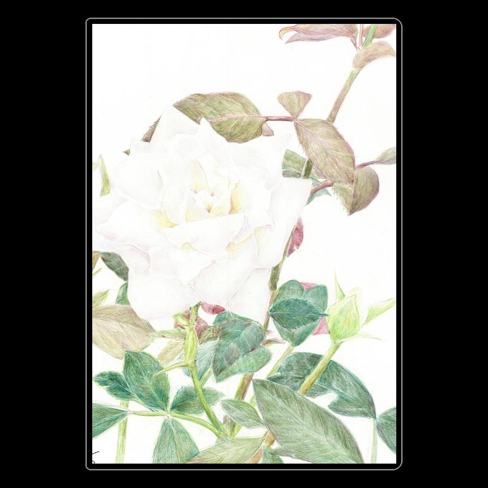 白薔薇ノート ソフトレザーノート
