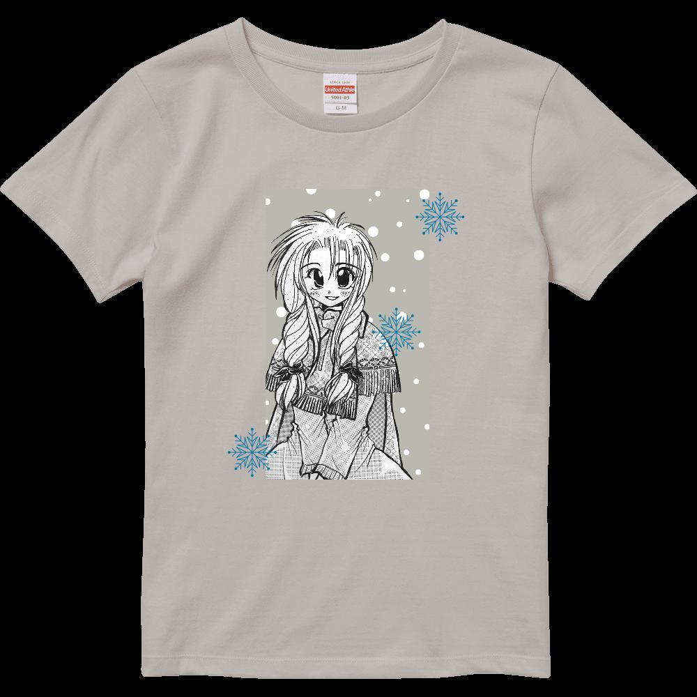 雪と少女(細雪)・Tシャツ※カラー選択可 ハイクオリティーTシャツ(ガールズ)