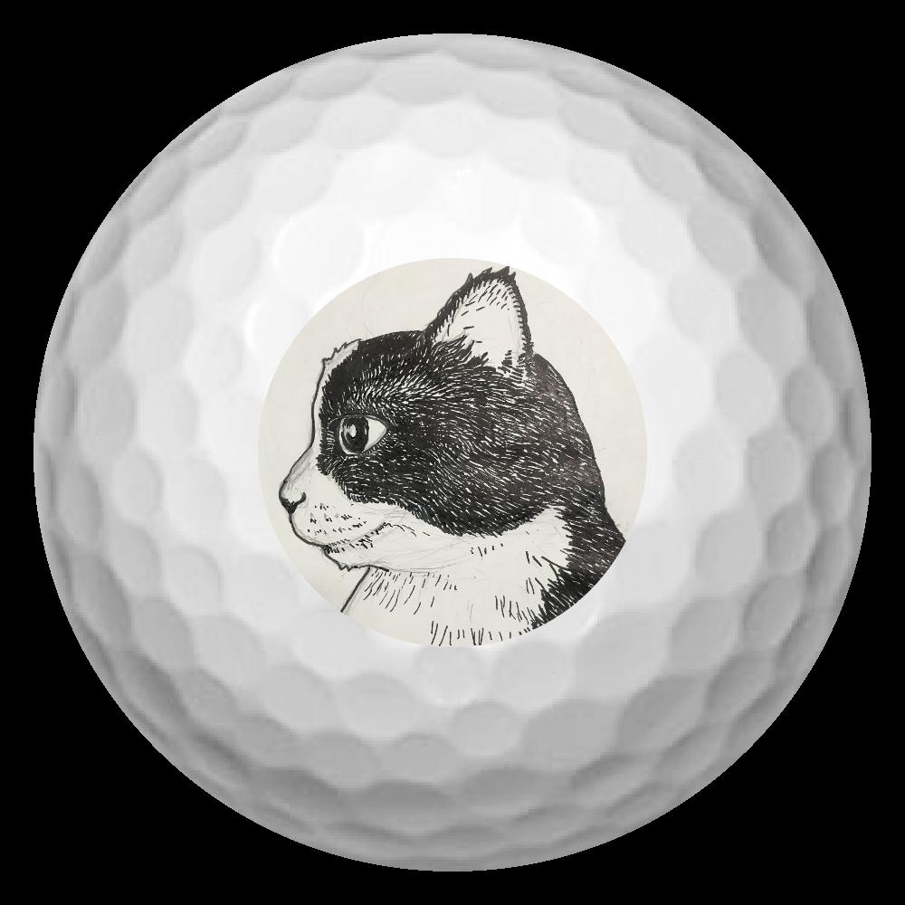 白黒つけるにゃ ゴルフボール(3個セット)