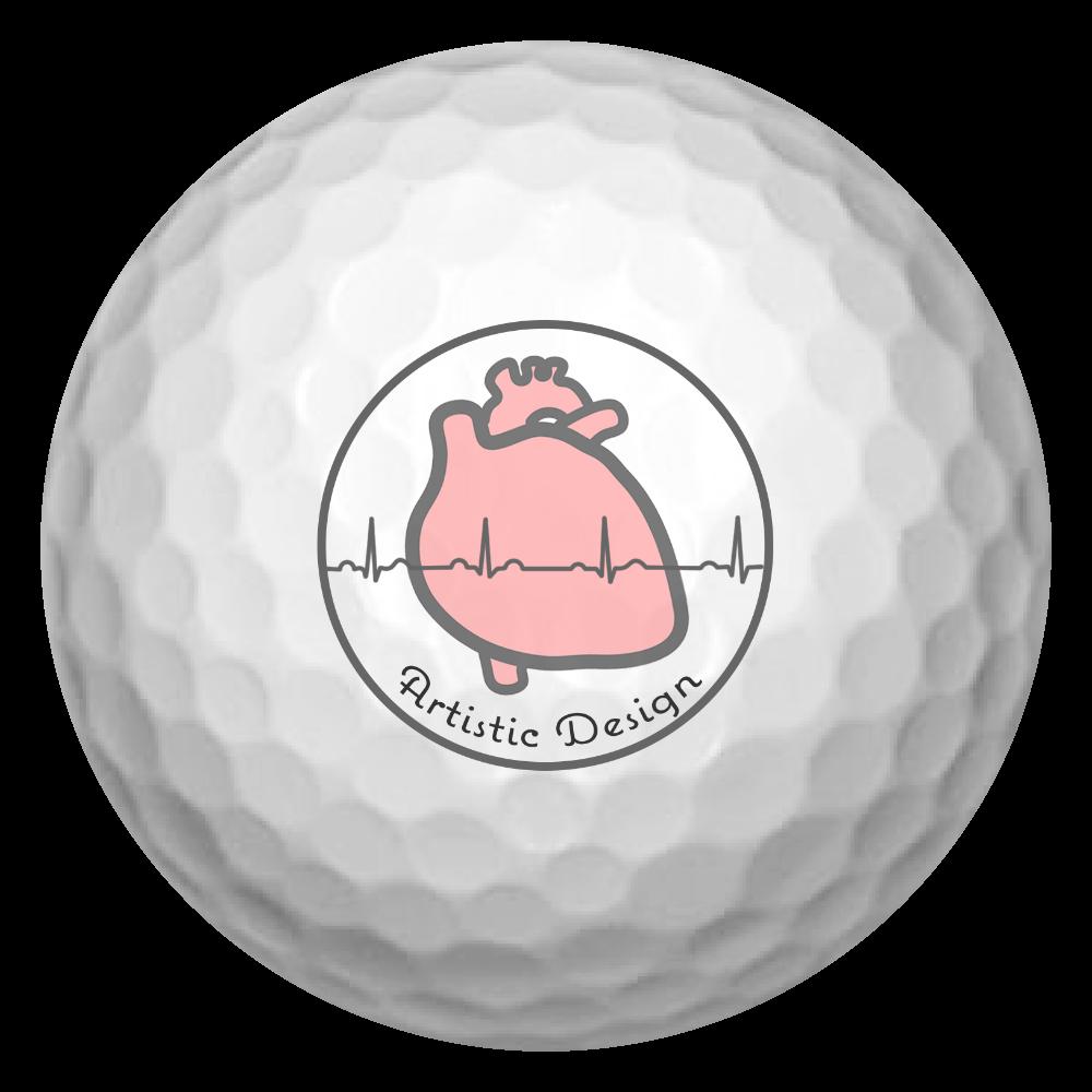 とにかく心臓 ゴルフボール ゴルフボール(3個セット)