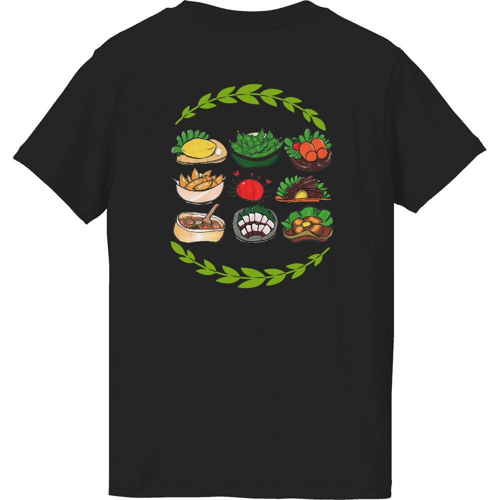 居酒屋メニューセット・Tシャツ(背面プリント)※カラー選択可 ハイクオリティーTシャツ(ガールズ)