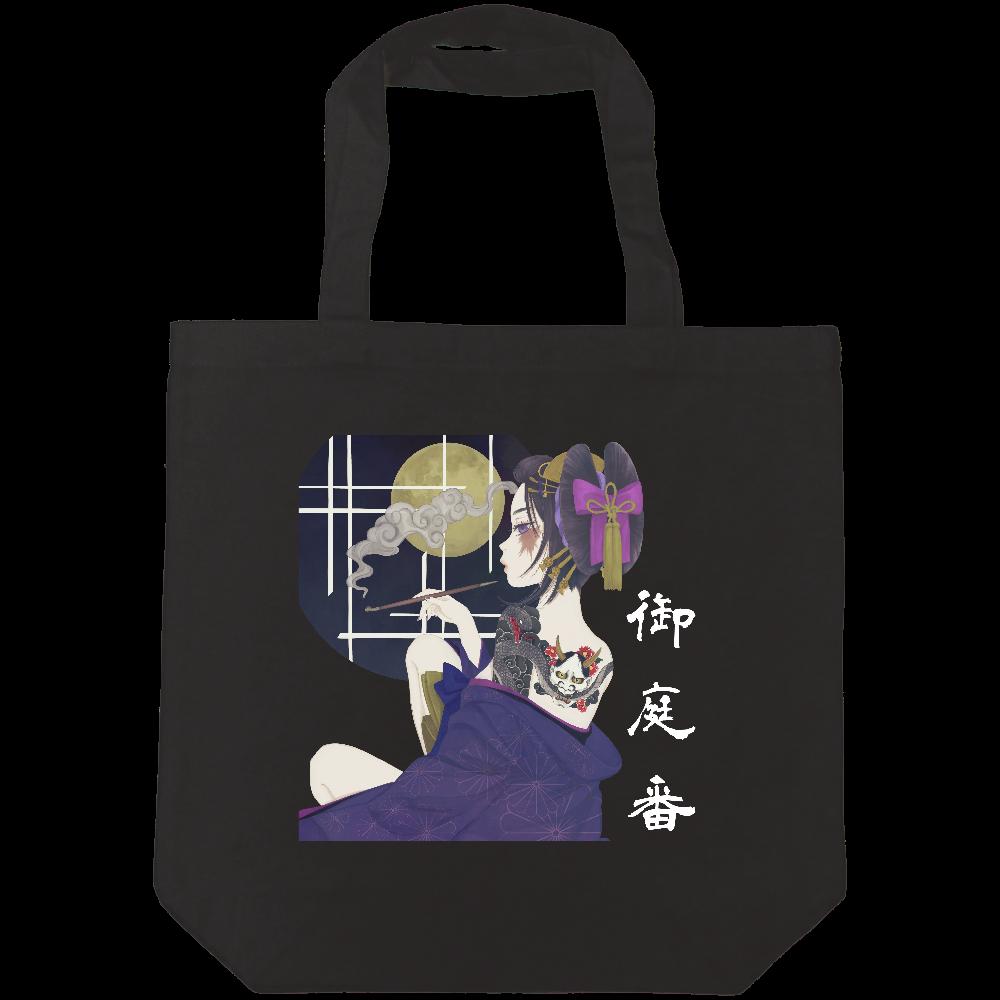 kuro;a 花魁姿 バッグ ライトキャンバストートバック(M)