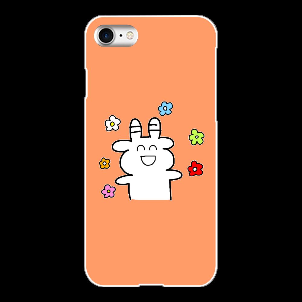 お花(オレンジ) iPhone8(白)