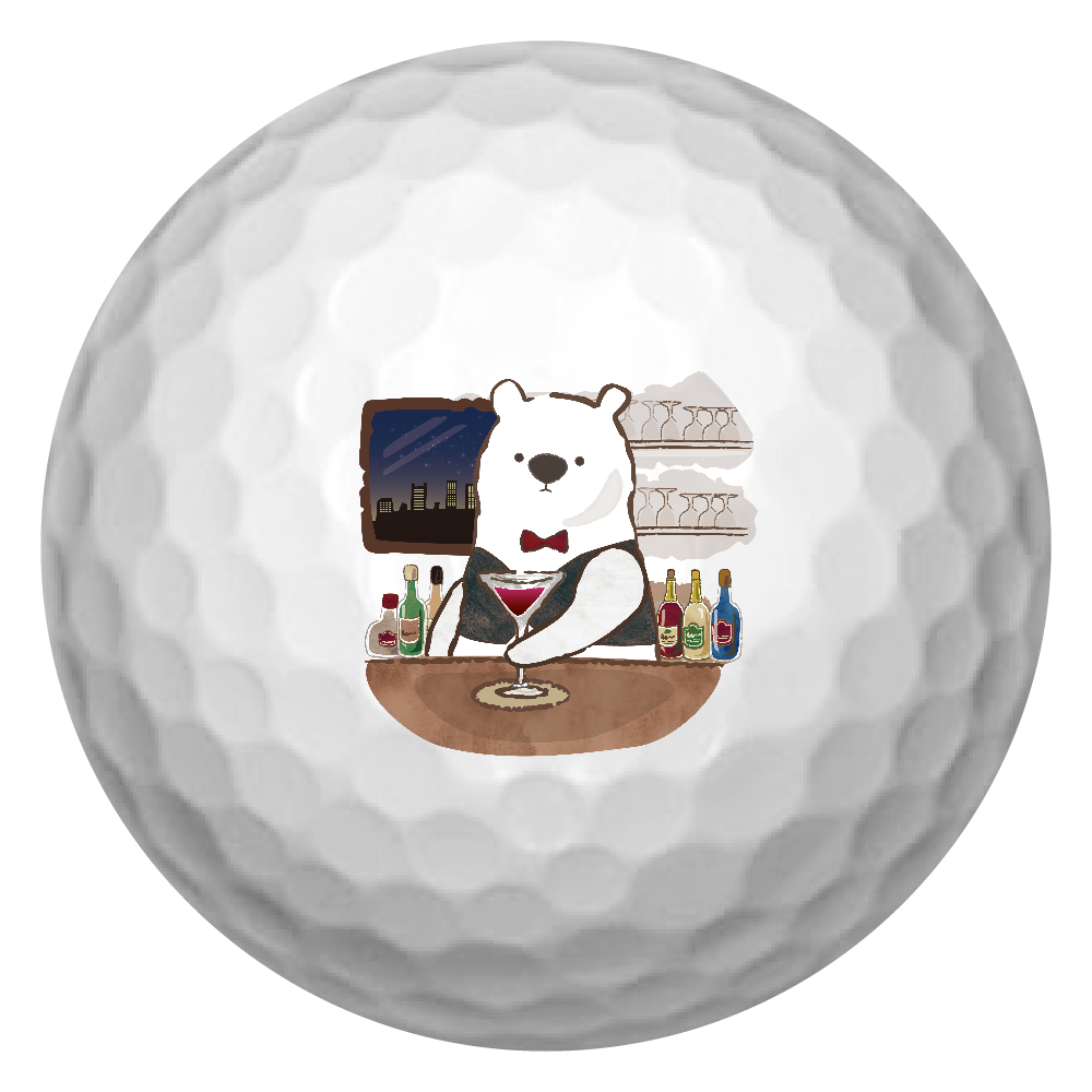 バーテンダーのアルルさん ゴルフボール ゴルフボール(3個セット)
