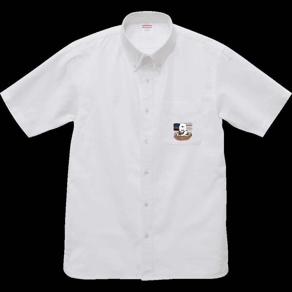 バーテンダーのアルルさん ショートスリーブシャツ オックスフォードボタンダウンショートスリーブシャツ