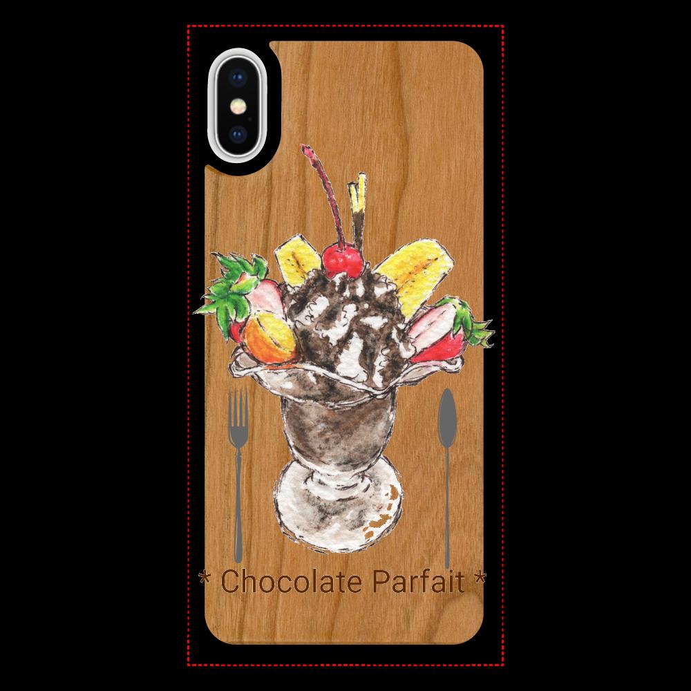 チョコレートパフェ・iPhoneケース iPhoneX/XS ウッドケース