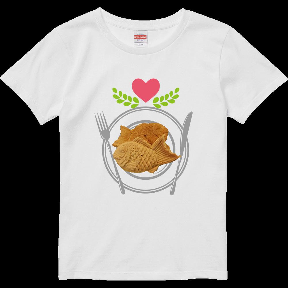 たい焼き(写真)・半袖Tシャツ※カラー選択可 ハイクオリティーTシャツ(ガールズ)