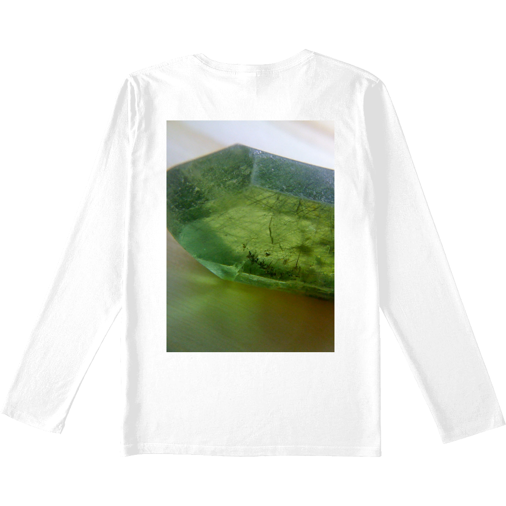 胃袋さんの休日×ペリドットのミドリさんスペシャルコラボVネックロンT スリムフィット VネックロングスリーブTシャツ