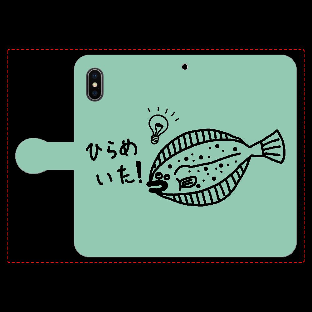 ひらめいた! 手帳型スマホケース ベルト付きiPhoneX/Xs iPhoneX/Xs 手帳型スマホケース