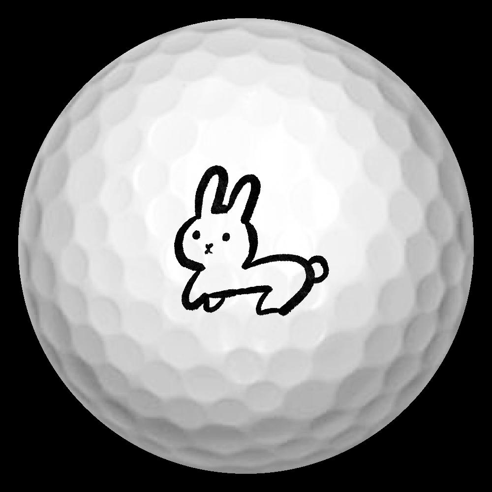 うさぎマークのゴルフボール ゴルフボール(3個セット)