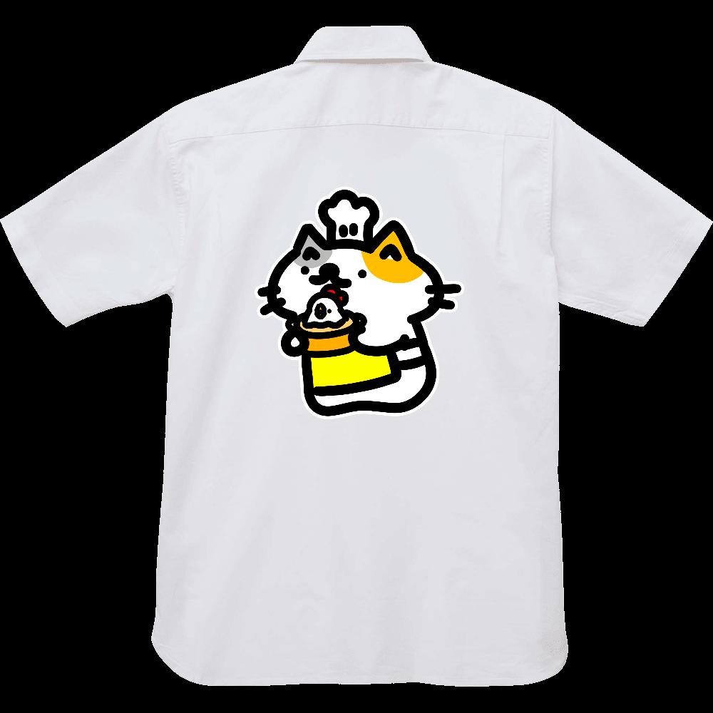 とりのみずたきできたよー オックスフォードボタンダウンショートスリーブシャツ