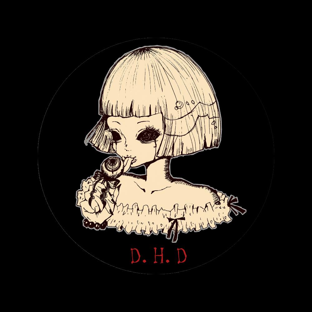 【レディ】56mm缶バッジ(アンティーク) 56㎜缶バッジ