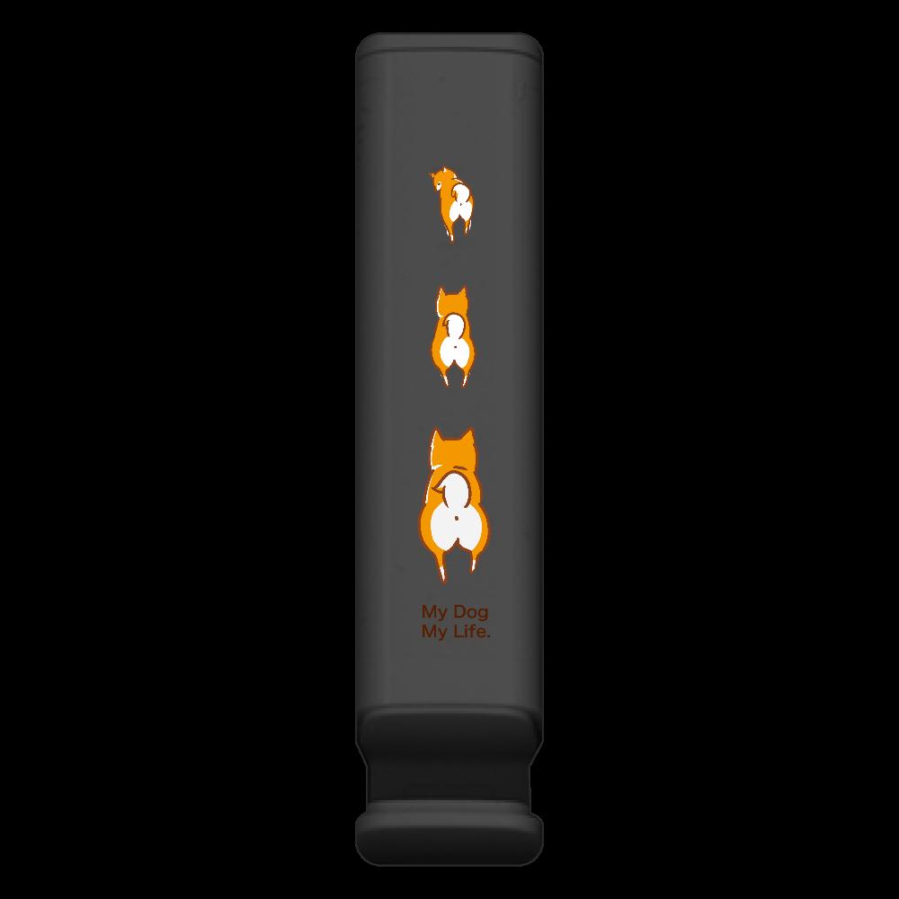 あたちたちのスマホスタンド付きモバイルバッテリー BLACK スマホスタンド付モバイルバッテリー(2200mAh)