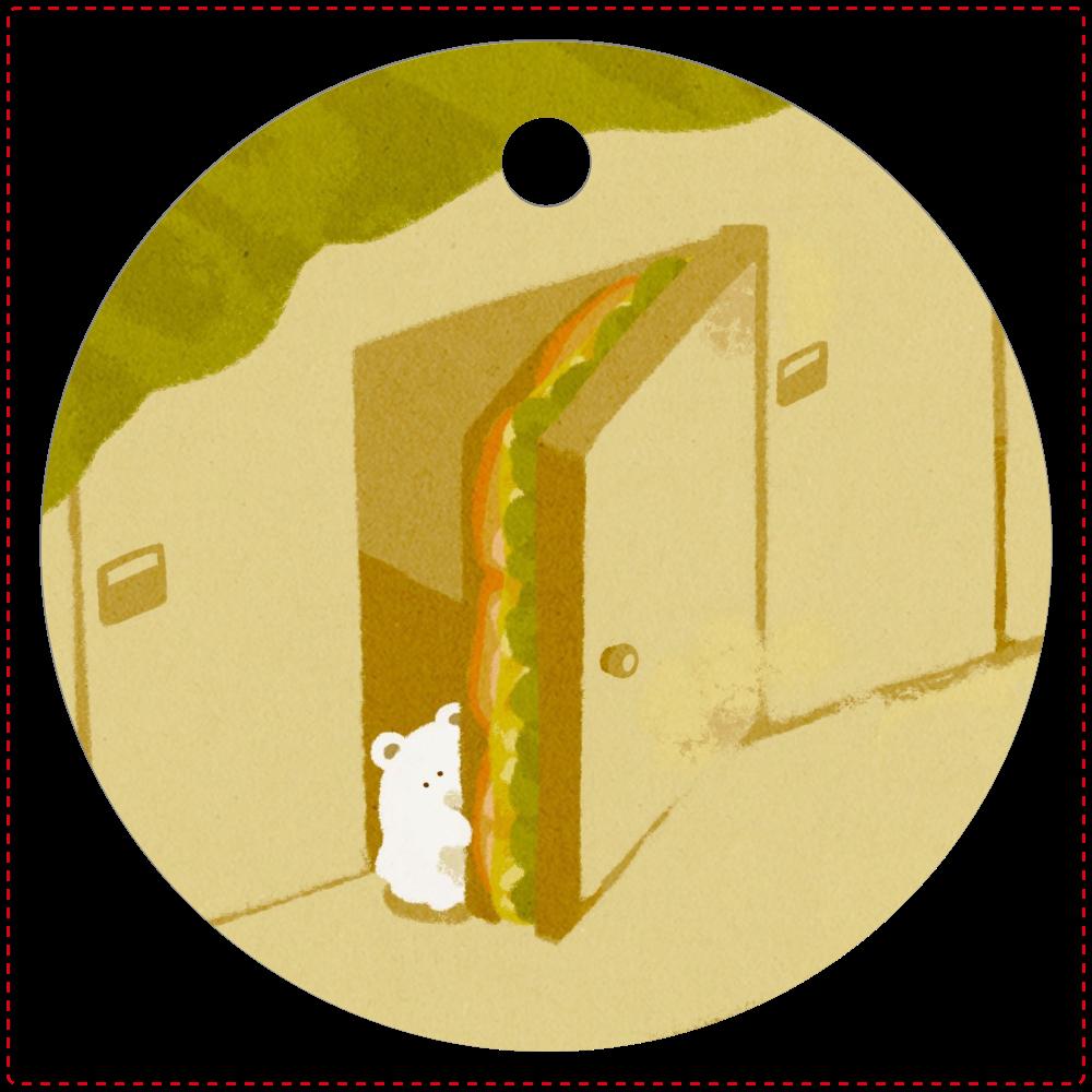 サンドイッチマンション レザーキーホルダー(丸型)