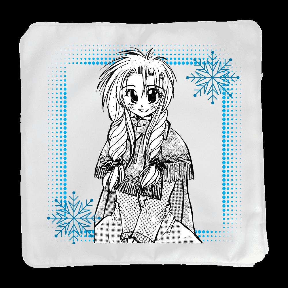 雪と少女(細雪)(モノトーン)・クッションカバー(小クッション付き) クッション(小)
