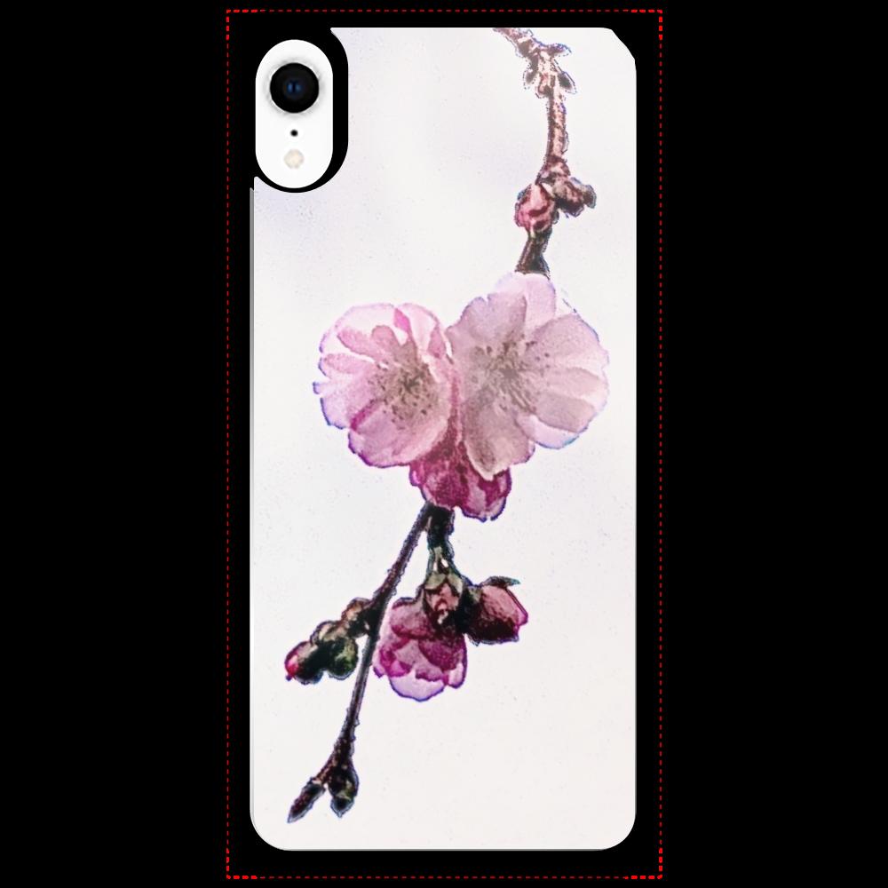 冬桜 iPhoneXRミラーパネルケース