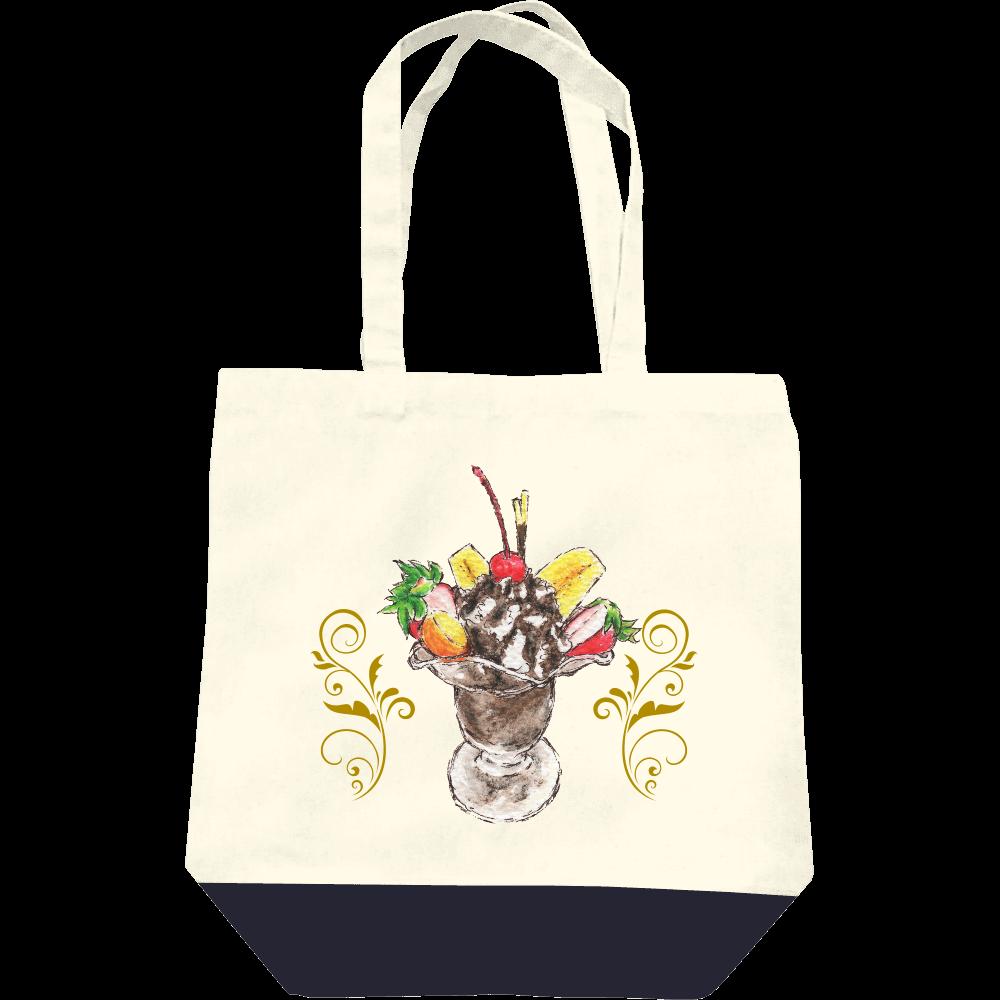 チョコレートパフェ(背景無し)トートバッグ レギュラーキャンバストートバッグ(M)