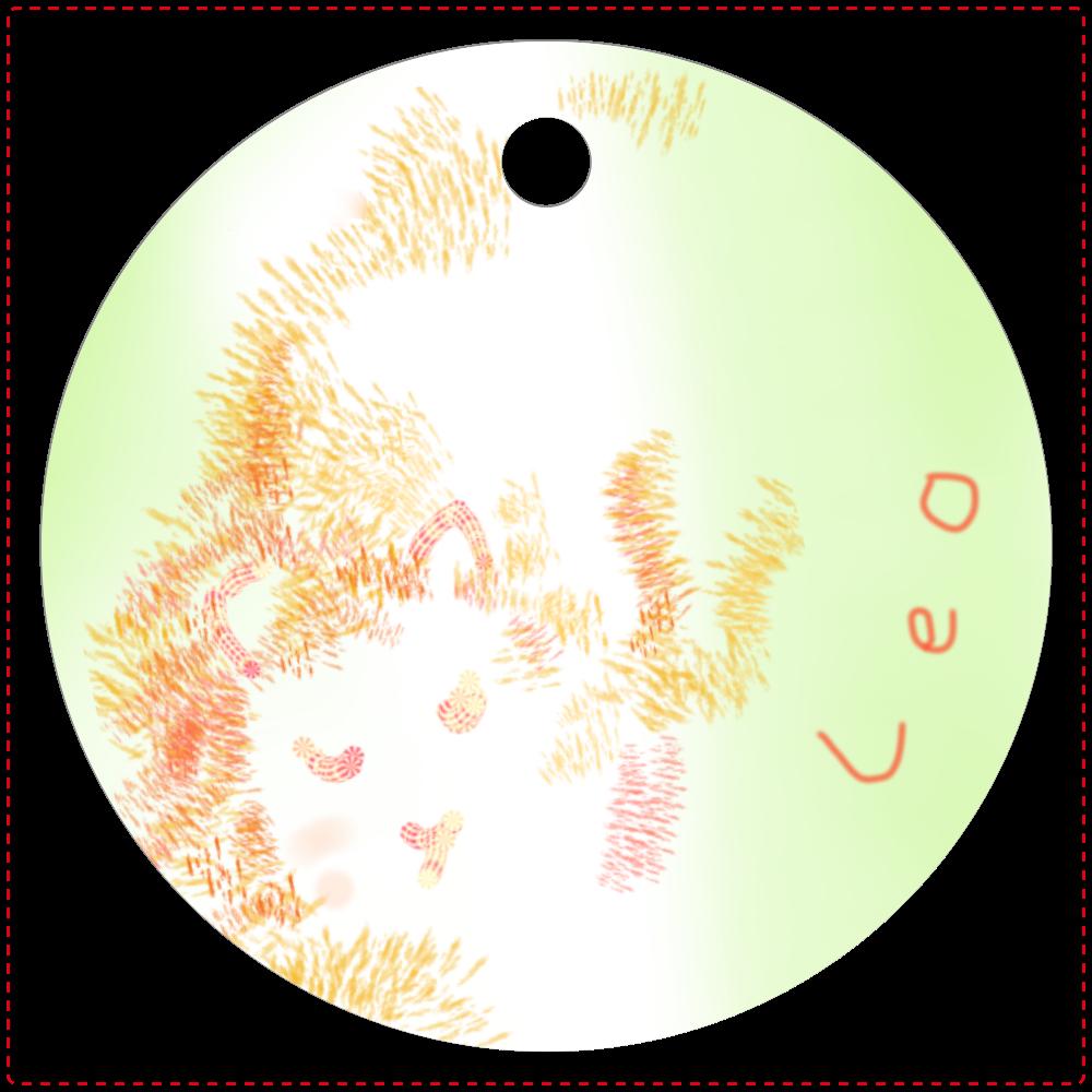 みそっちょ 星座 獅子座 オリジナルキーホルダー  レザーキーホルダー(丸型)