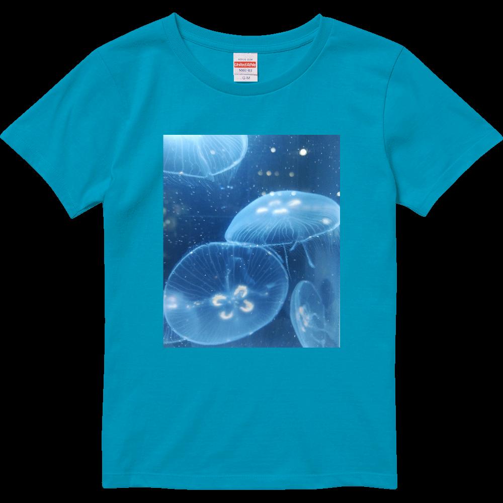 ミズクラゲ(写真)Tシャツ※カラー選択可 ハイクオリティーTシャツ(ガールズ)