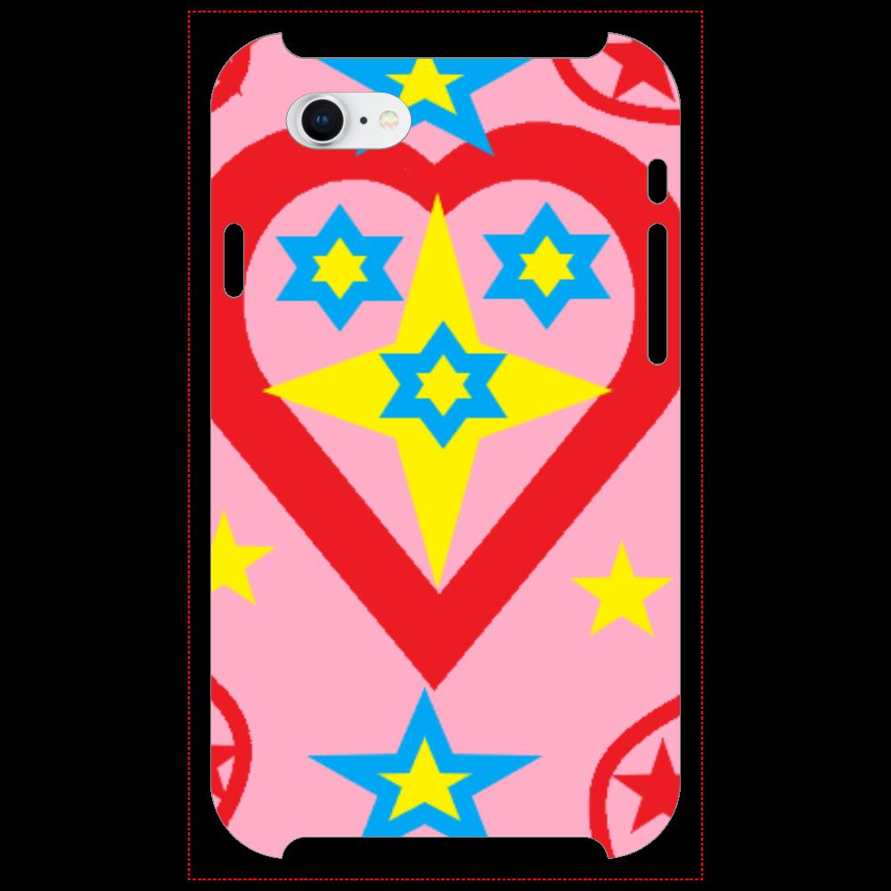 ピンクのキラキラハート iPhoneSE2