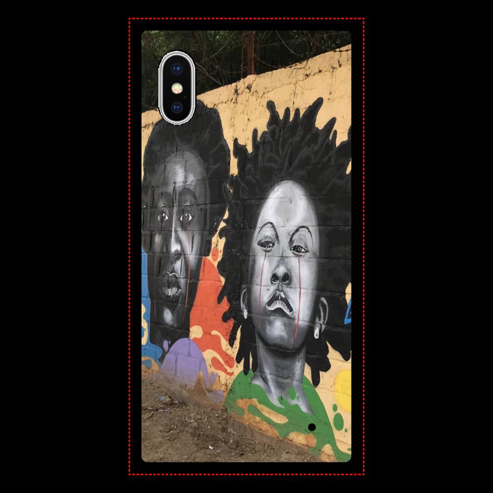 ウォールアート iPhoneX/XS 背面強化ガラス(スクエア)