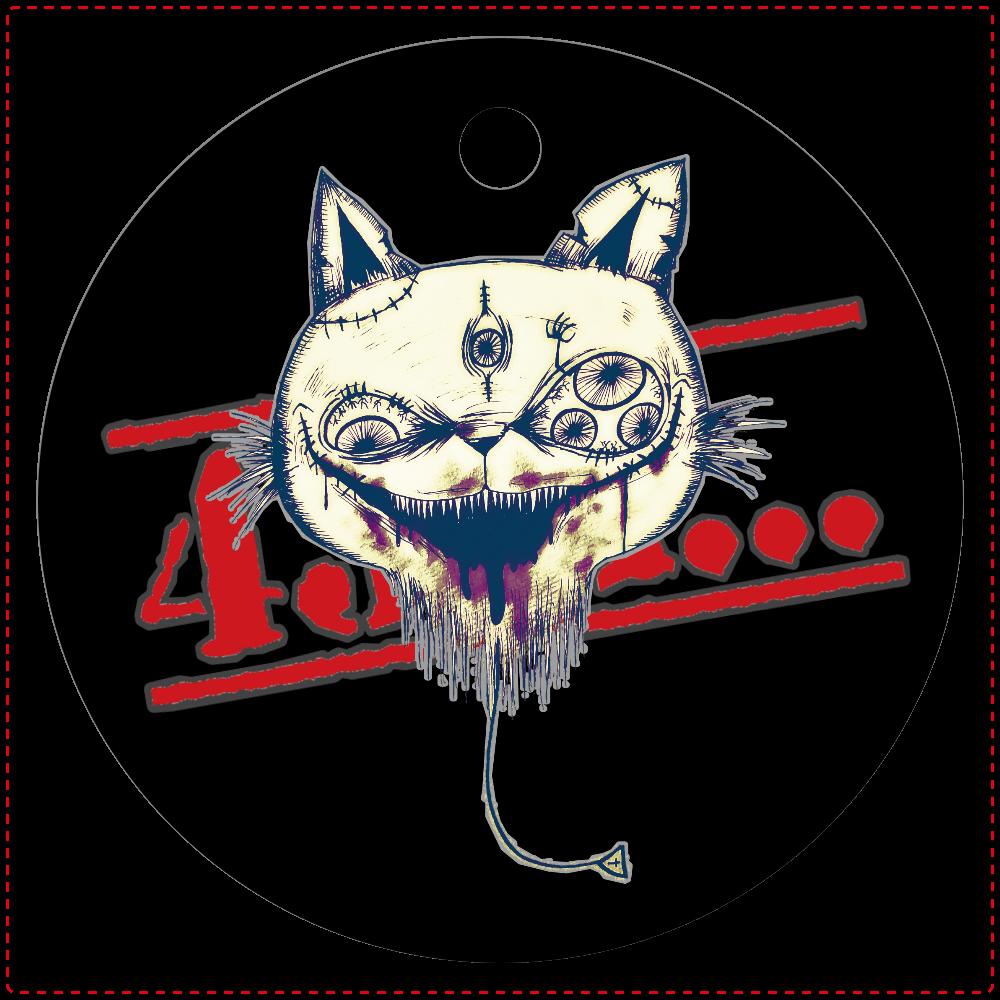 【風船猫】レザーキーホルダー丸型(原色) レザーキーホルダー(丸型)