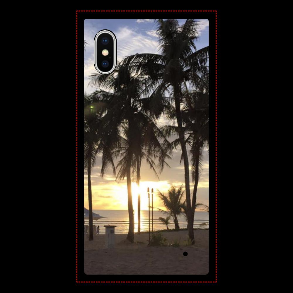 サンセット iPhoneX/XS 背面強化ガラス(スクエア)